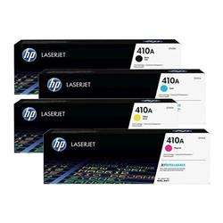 HP 410 Toner Cartridge Bundle Cyan, Magenta, Yellow, Black [Pack 4]