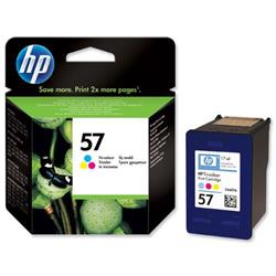 Hewlett Packard HP No. 57 Tri-Colour Inkjet Cartridge 17ml Ref C6657AE