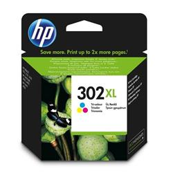 HP 302XL High Yield Tri-colour Original Ink Cartridge (F6U67AE)