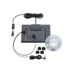 Olympus AS-2400 Digital Transcription Kit RS-28 Footswitch E-102 Headset and DSS Software Ref N2275726
