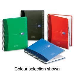 Oxford Office Address Book Wirebound Hardback 144pp 90gsm A5 Random Colour Selection Ref 100101258