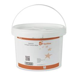 5 Star Facilities Medimax 70 per cent IPA Surface Wipes Anti-bacterial 28gsm 28x28cm [Tub 150 Sheets]