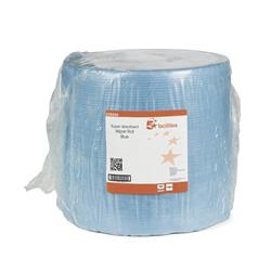 5 Star Facilities Cloths Multipurpose Low Lint Solvent-resistant 110gsm 30x36cm Blue [Roll 500]