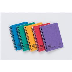 Europa Notebook Twinwire Sidebound Ruled 90gsm 120pp Micro-perforated A6 Assorted Ref 482/1138Z [Pack 10]
