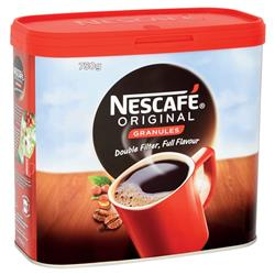 Nescafe Original Instant Coffee Granules Tin 750g Ref 12315566 - 2 Free Nestle Mini Breaks when you buy 2 Nescafe tins
