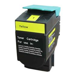 ALPA-CArtridge Remanufactured Lexmark C540 Yellow Toner C540H2YG