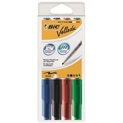 Bic Velleda 1741 Whiteboard Marker Bullet Tip Line Width 2mm Assorted Ref 1199001744 - Wallet 4