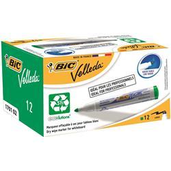 Bic Velleda 1701 Whiteboard Marker Bullet Tip Line Width 1.5mm Green Ref 1199170102 - Pack 12