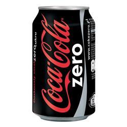 Coca Cola Coke Zero Soft Drink Can 330ml Ref A004020036992 [Pack 24]