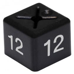 Size Cube for Size 12 11x11mm Black (Pack 50)