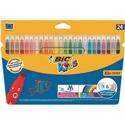 Bic Kids Couleur Colouring Felt Tip Pens with Washable ink 24 Vibrant Colours Ref 841800 [Pack 24]