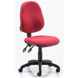 Trexus II lever Task Operator Chair Wine Fabric Without Arms Ref OP000030