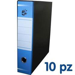 Registratori a leva 5 Star - commerciale - dorso 8 - 22x30 cm - blu - conf. 10