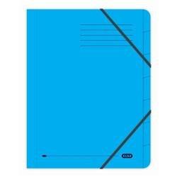 Elba Boston Part File Pressboard Elasticated 7-Part Foolscap Blue Ref 100090169 [Pack 5]