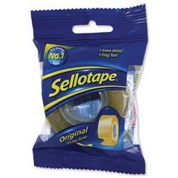 Sellotape Original Golden Tape Roll Non-static Easy-tear Small 24mmx33m Ref 1443254 - Pack 6