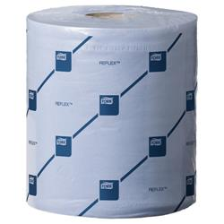 Tork Reflex Wiper Roll 2-Ply 429 Sheets of 194x150mm Blue Ref E02221 [Pack 6]