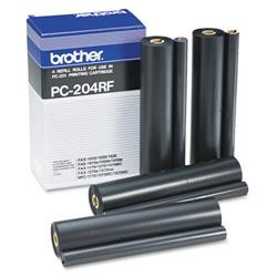 Brother PC204RF Black Thermal Fax Ribbon for 1020 1030 MFC1025 Ref PC-204RF - Pack 4
