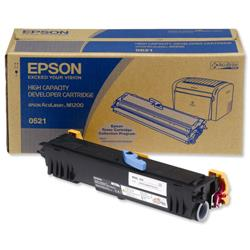 Epson S050521 Laser Toner Cartridge High Yield Page Life 3200pp Black Ref C13S050521