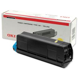 OKI Yellow Toner Cartridge for C5100/C5200/C5300/C5400 Ref 42127405