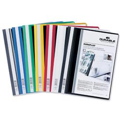 Durable Duraplus Quotation Filing Folder PVC with Clear Title Pocket A4 Assorted Ref 2579/00 [Pack 25]
