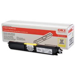 OKI Laser Toner Cartridge High Yield Page Life 2500pp Yellow Ref 44250721