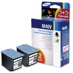 Samsung M40 Black Inkjet Cartridge for SF330/340/360 Ref INK-M40V/ELS - Twin Pack
