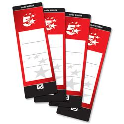 5 Star Office Spine Labels for Lever Arch File Self-adhesive [Pack 10]