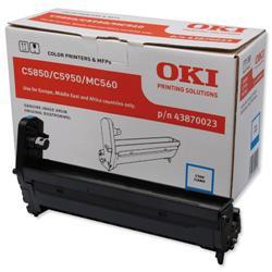 OKI Laser Drum Unit Page Life 20000pp Cyan Ref 43870023