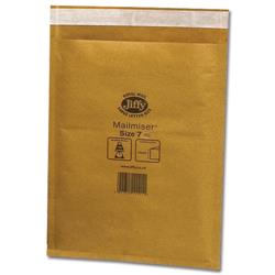 Jiffy Mailmiser No.7 Gold Bubble-lined Protective Envelopes Ref JMM-GO-7 - Pack 50
