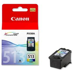 Canon CL-513 Tri-Colour Inkjet Cartridge for MP240/MP260/MP480 Ref 2971B001AA