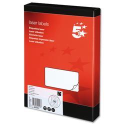 5 Star Office Multipurpose Labels Laser 14 per Sheet 99.1x38.1mm White [3500 Labels]
