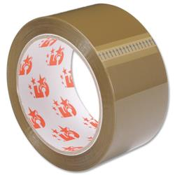 5 Star Office Packaging Tape Polypropylene 50mm x 66m Buff
