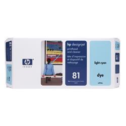 Hewlett Packard [HP] No. 81 Light Cyan Dye Printhead and Printhead Cleaner Ref C4954A
