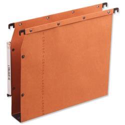 Elba Ultimate AZV Lateral Suspension File 330mm 30mm Base A4 Orange Ref 100330475 [Pack 25]