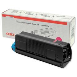 OKI Magenta Toner Cartridge for C5100/C5200/C5300/C5400 Ref 42127406