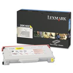 Lexmark Laser Toner Cartridge High Yield Page Life 6600pp Yellow Ref 20K1402