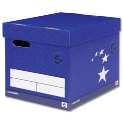 5 Star Elite Superstrong Archive Storage Box Foolscap Blue [Pack 10]