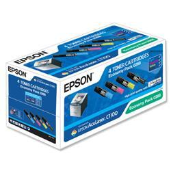 Epson S050268 Laser Toner Cartridge Page Life 6000pp Black/Cyan/Magenta/Yellow Ref C13S050268 - Pack 4