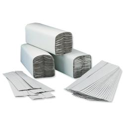 5 Star Facilities Hand Towel C-Fold Two-ply Recycled 230x310mm 192 Towels Per Sleeve Natural [Pack 15]