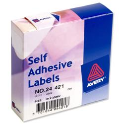 Avery 24-421 Label Dispenser 19x25mm White Ref 24-421 - 1200 Labels