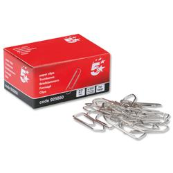 5 Star Office No Tear Paperclips Large Length 27mm [Pack 10x100]