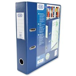 Elba Lever Arch File with Clear PVC Cover 70mm Spine A4 Blue Ref 100082303 - Pack 10