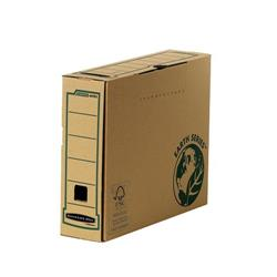 Bankers Box by Fellowes Earth Transfer File Recycled FSC Tab Lock Lid A4 Ref 4470101 [Pack 20]