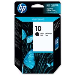Hewlett Packard HP No. 10 Black Inkjet Cartridge 69ml Ref C4844A