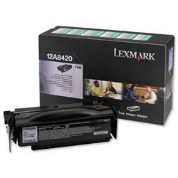 Lexmark T430 6k Black Return Program Laser Toner Cartridge Ref 12A8420