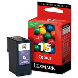Lexmark No. 15 Inkjet Cartridge Return Program Page Life 150pp Colour Ref 18C2110E