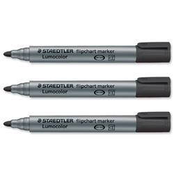 Staedtler Lumocolor Assorted Colour 2mm Bullet Tip Flipchart Markers Ref 356 WP6 - Pack 6