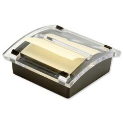 5 Star Office Re-Move Concertina Note Dispenser Acrylic-topped with FREE Pad for 76x76mm Notes