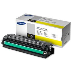 Samsung Laser Toner Cartridge Page Life 1500pp Yellow Ref CLT-Y506S/ELS