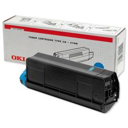 OKI Cyan Toner Cartridge for C5100/C5200/C5300/C5400 Ref 42127407